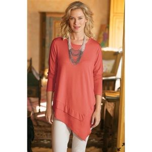 Soft Surroundings Asymmetric Tunic Top Petite XS
